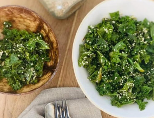 Easy Sesame Kale Salad